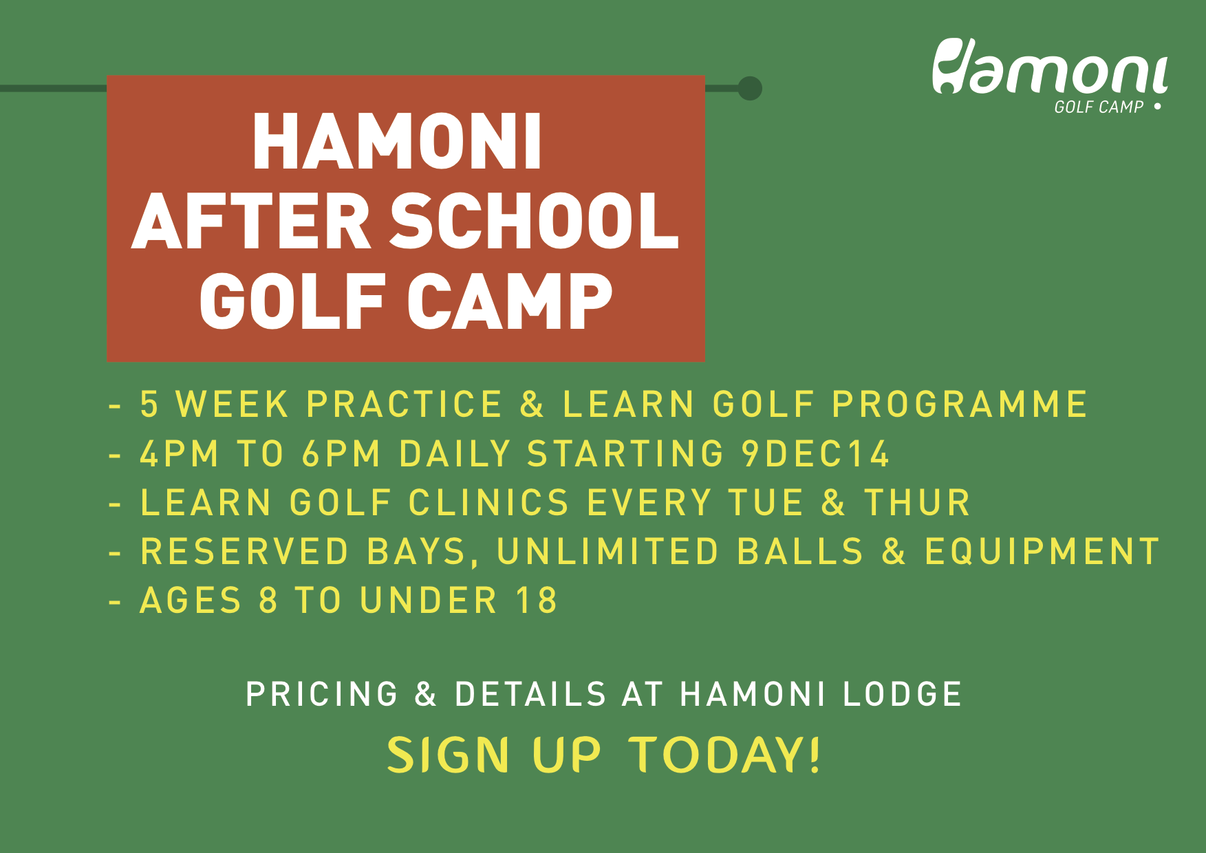 HGC's After School Golf Camp