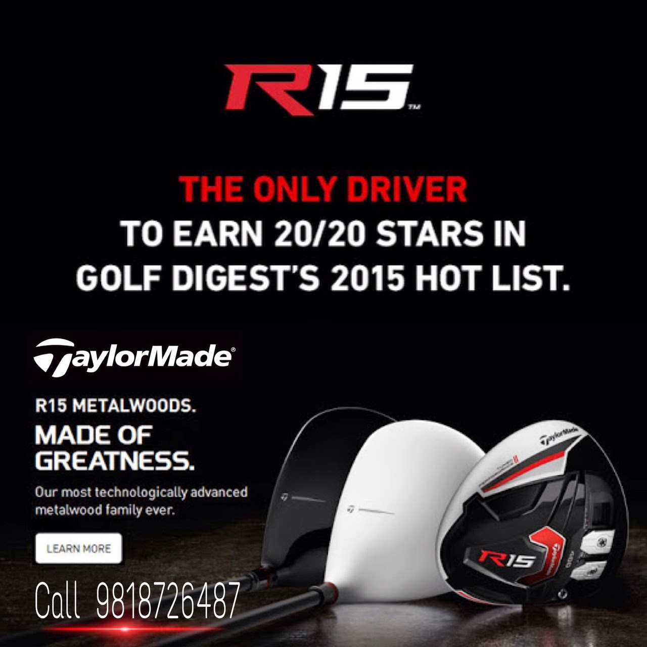 Taylormade India Aeroburner & R15 Launch at HGC