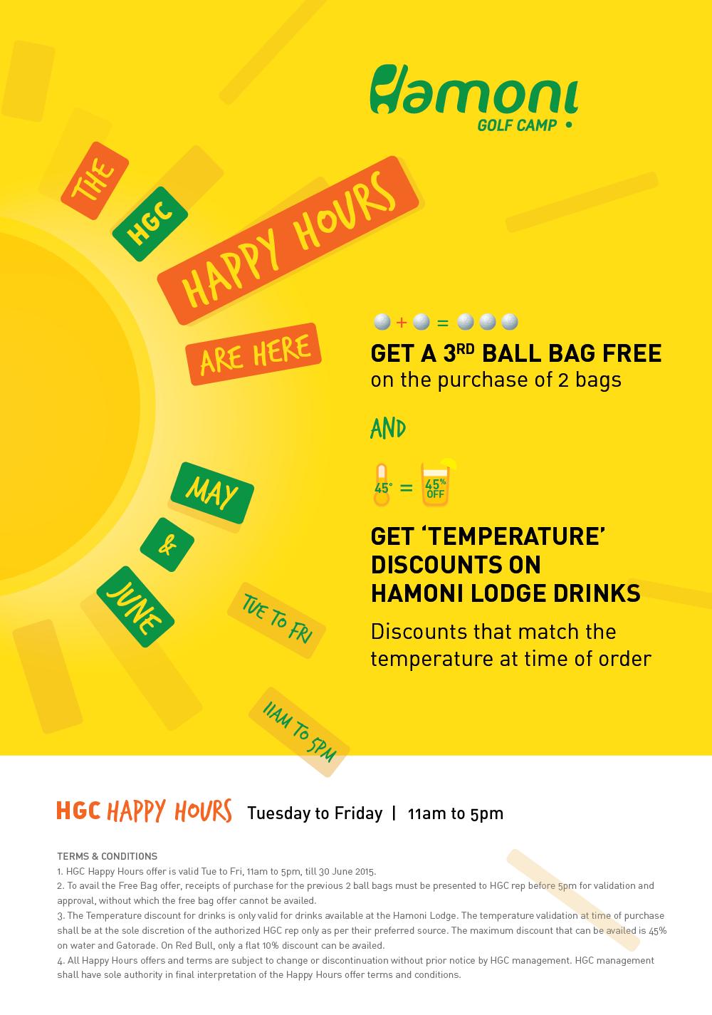 Happy Hours at Hamoni Golf Camp!