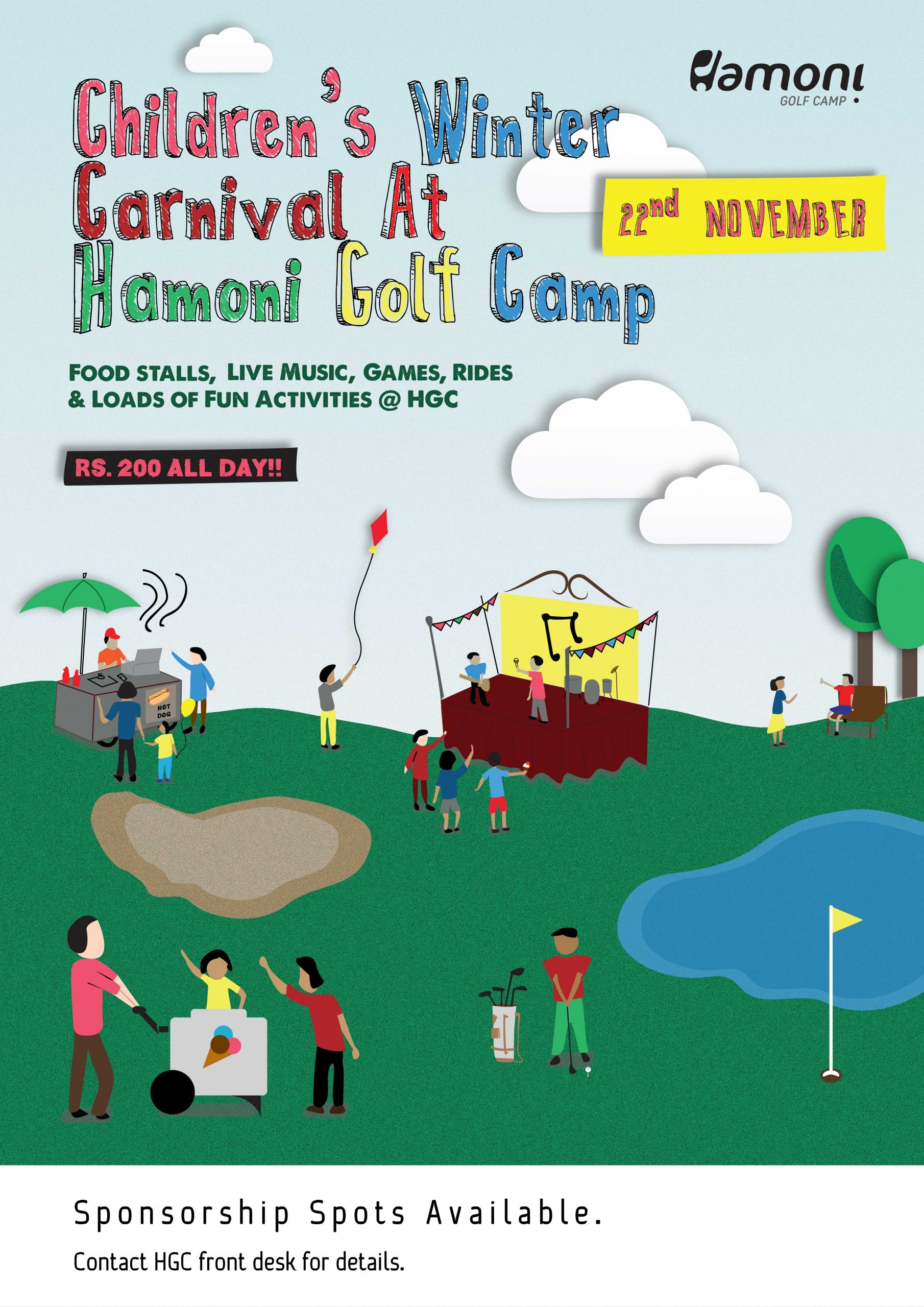 HAMONI GOLF CAMP – CHILDREN'S WINTER CARNIVAL 2015 !!